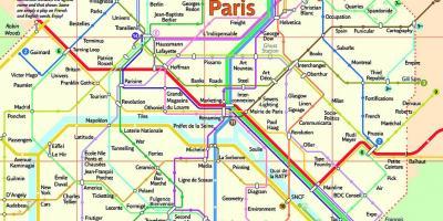 Paris Harta Harta Paris Ile De France France